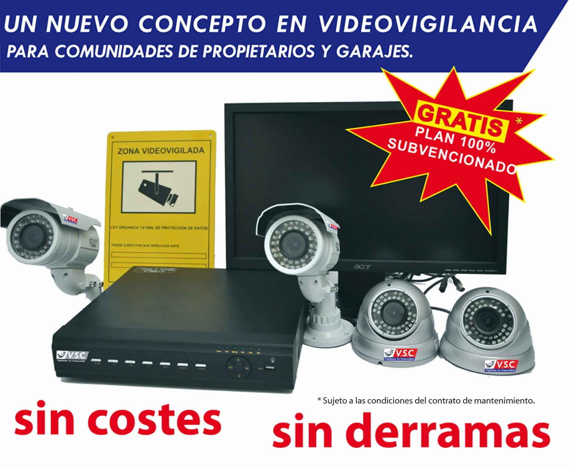 Sistemas de videovigilancia para comunidades